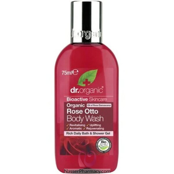 Dr. Organic Rose Otto Body Wash Travel Size 75ml-dr00325