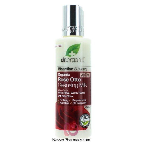 Dr Organic Rose Otto Cleansing Milk - 150ml