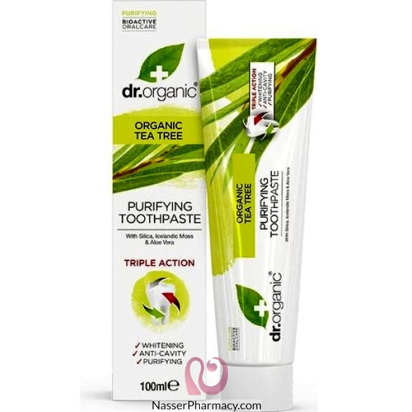 Dr Organic Tea Tree Toothpaste - 100ml