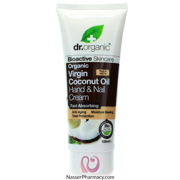 Dr Organic Virgin Coconut Oil Hand & Nail Cream - 100ml