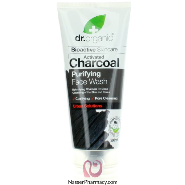 Dr.organic Charcoal Face Wash 200ml-00545