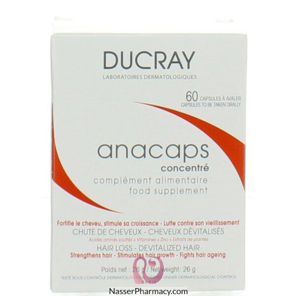 دوكري (anacaps) كبسولات مكمل غذائي للشعر - 60 كبسولة