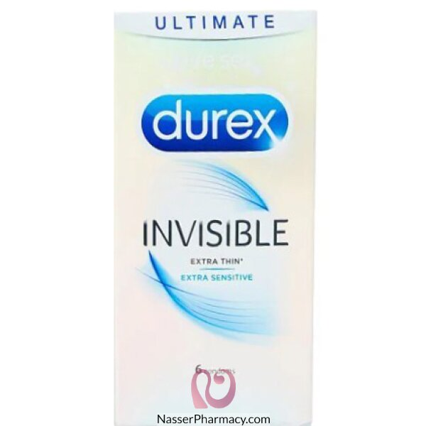 Durex 6's Invisible Ext Thin  Ext Sensitive