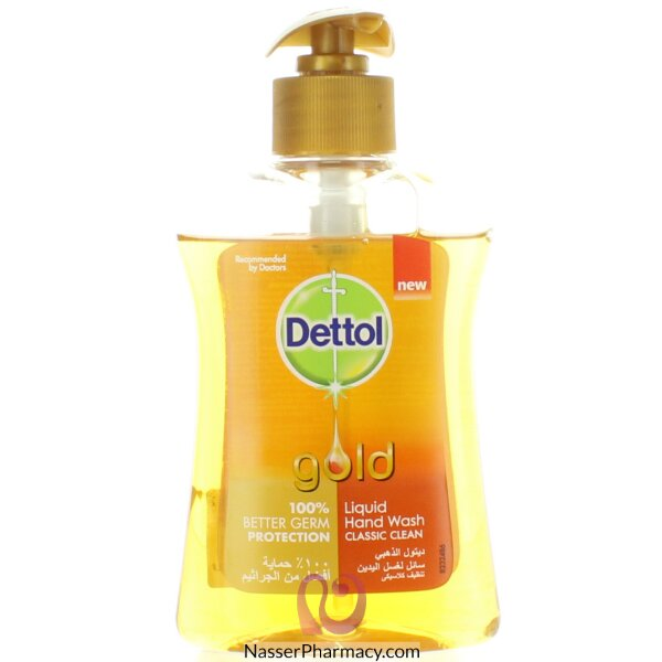 Dettol Hand Wash Gold Classic Clean 200ml