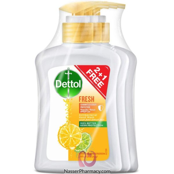 Dettol H/wash Fresh 200ml 2+1