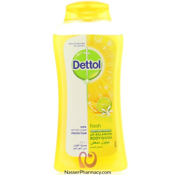 Dettol Shwr Gel Fresh W.puff 250ml