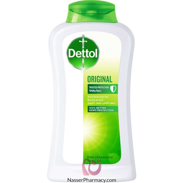 Dettol Shwr Gel Org W.puff 250ml