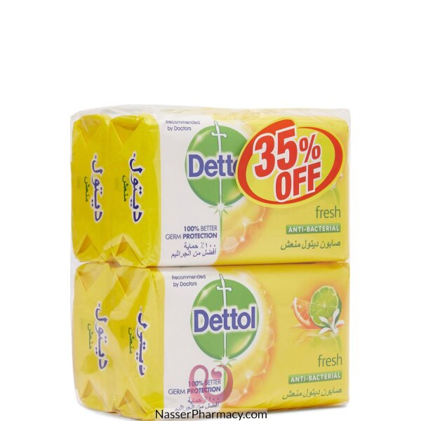 Dettol Soap Fresh 165gx4 @ 35% Off 12*4*165gm