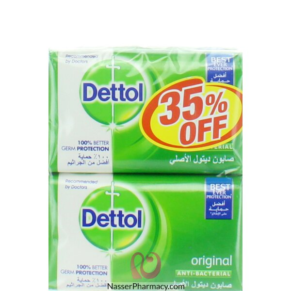 Dettol Soap Original  165gx4 @ 35% Off 12*4*165gm