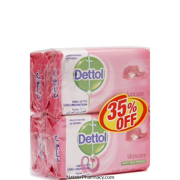 Dettol Soap Skin Care 165gx4 @ 35% Off 12*4*165gm