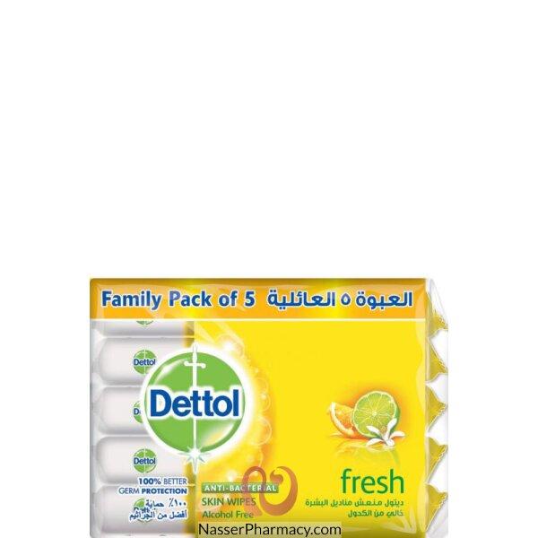 Dettol Wipes - Fresh 10's Value Pack 8*(5*10's)