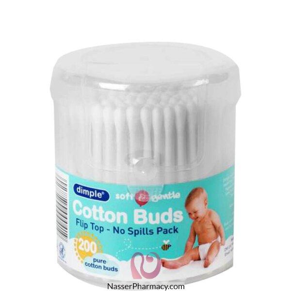 Dimple Soft+gentle Fliptop Cotton 200 Stick