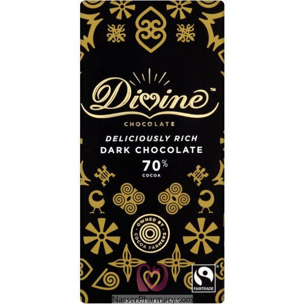 Divine  Dark Chocolate 70% Cocoa 100g