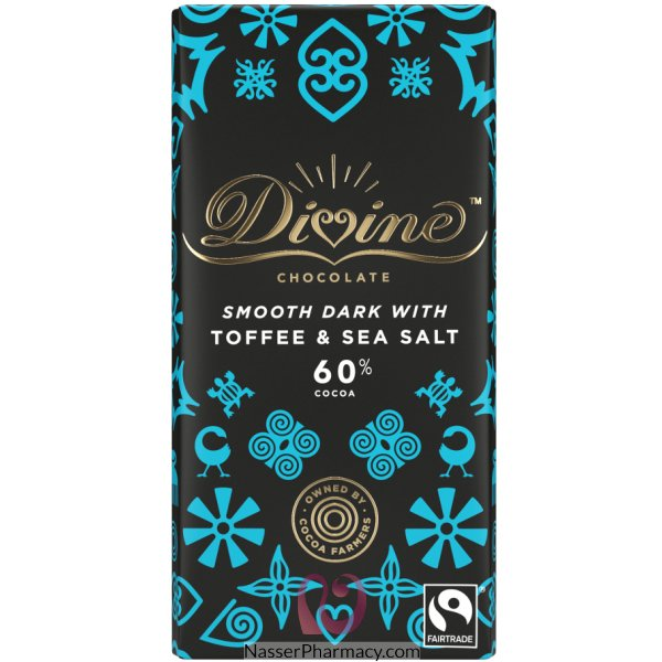 Divine Dark Chocolate With Toffee & Sea Salt 90g