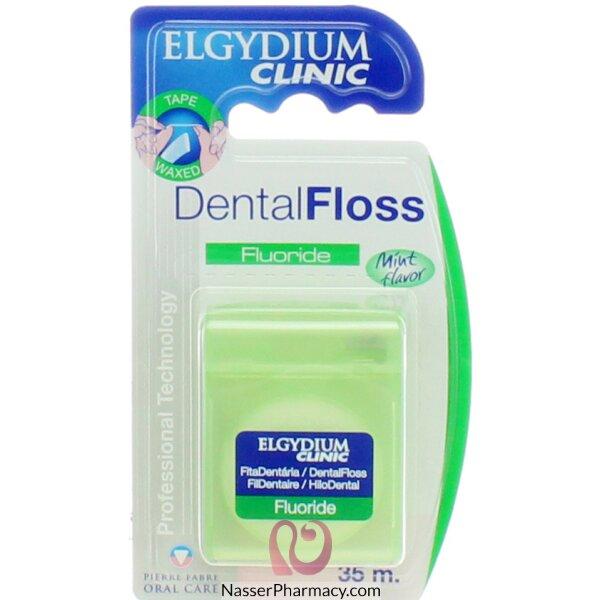 الجيديوم Elgydium- خيط أسنان طبي بالفلورايد والنعنع 35م