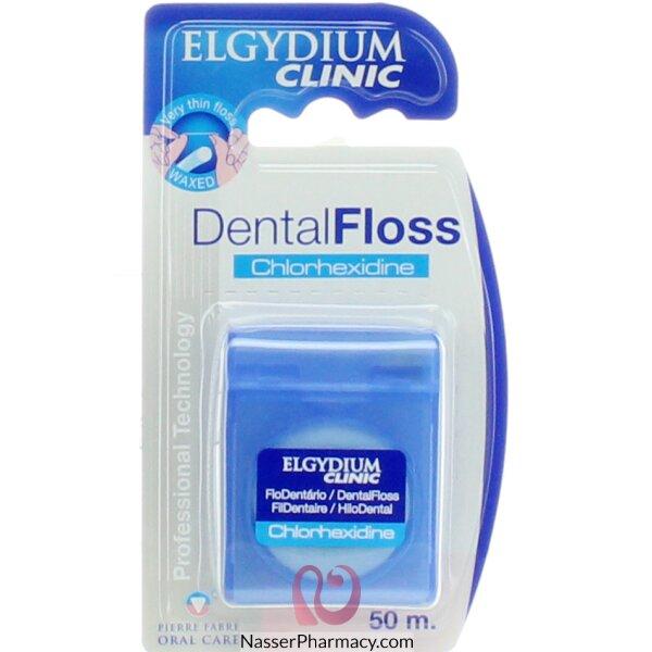 الجيديوم Elgydium- خيط أسنان كلورهيكسيدين 50م