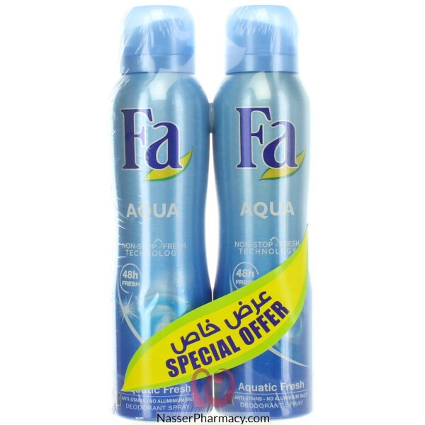 Fa Deodorant Spray Assorted 2x150ml @ 20% Off