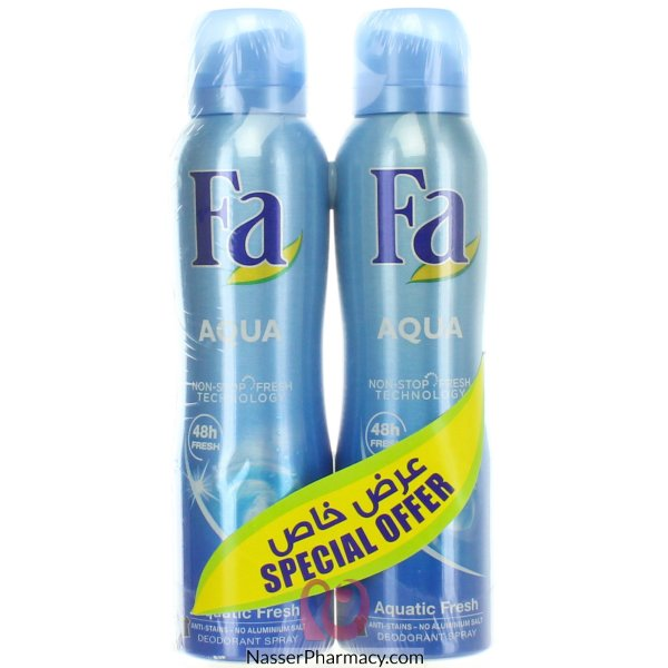 Fa Deospray Assorted 2x150ml @ 20% Off 2x150ml