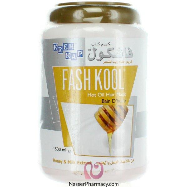 كريم كاب فاشكول Fashkool  كريم حمام زيت للشعر بالعسل واللبن  1500 مل