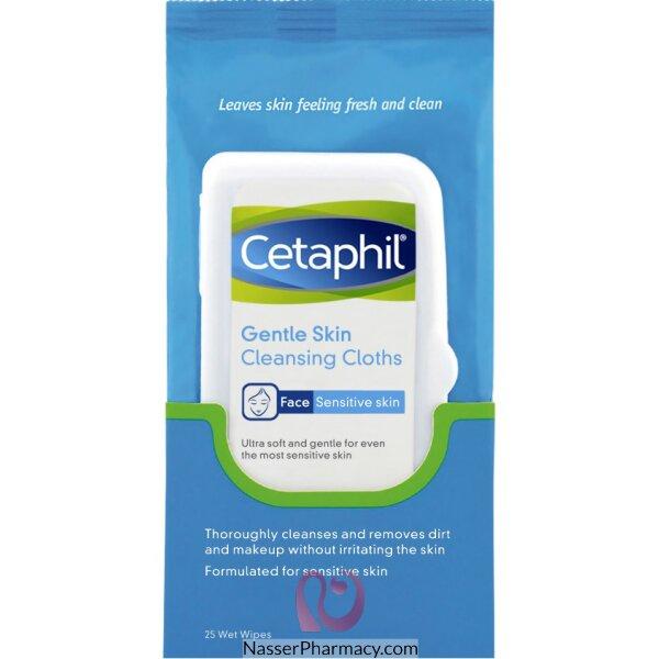 سيتافيل Cetaphil مناديل التنظيف الرقيق للبشرة، 25 منديل مرطبة
