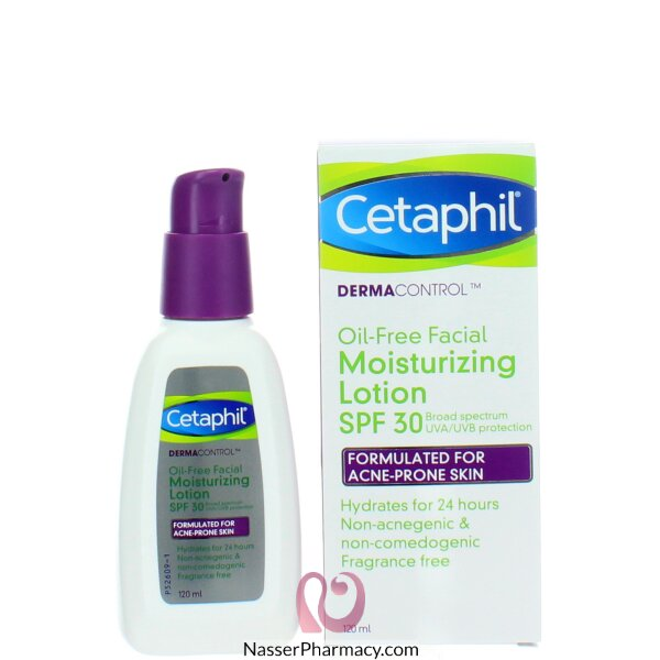 Cetaphil Dermacontrol Oil-free Facial Moisturising Lotion  Spf30 120ml