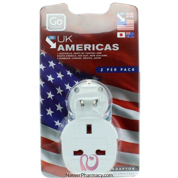 محول كهربائي مزدوج من إنجليزي إلى أمريكي -244(twin Pack)