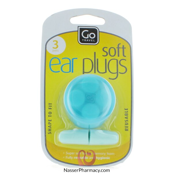 Go Travel Ear Plugs - 3 Pairs