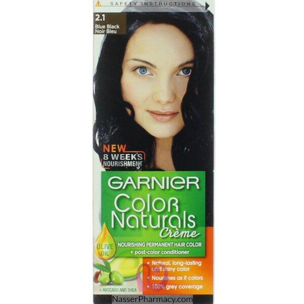 غارنييه كولور ناتشرلز كريم صبغة دائمة مغذية  للشعر - أسود مزرق 2.10