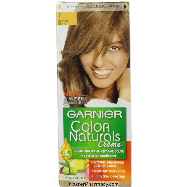 غارنييه كولور ناتشرلز كريم صبغة دائمة مغذية  للشعر - أشقر7