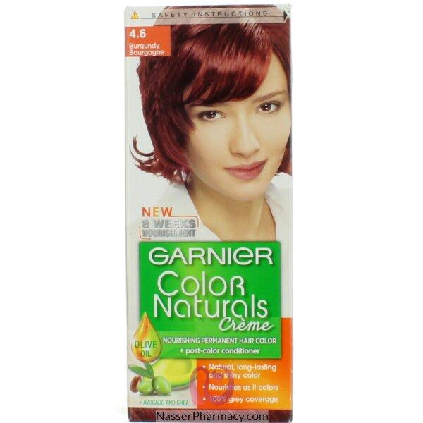 غارنييه كولور ناتشرلز كريم صبغة دائمة مغذية  للشعر - برغندي 4.6
