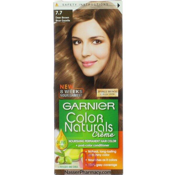 غارنييه كولور ناتشرلز كريم صبغة دائمة مغذية  للشعر - بني غزالي 7.7