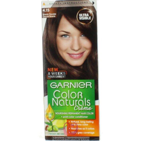 غارنييه كولور ناتشرلز كريم صبغة دائمة مغذية  للشعر - شوكولاتة براوني 4.15