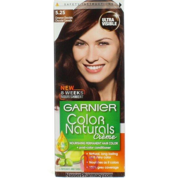 غارنييه كولور ناتشرلز كريم صبغة دائمة مغذية  للشعر  - شوكولاتة قرفة 5.25
