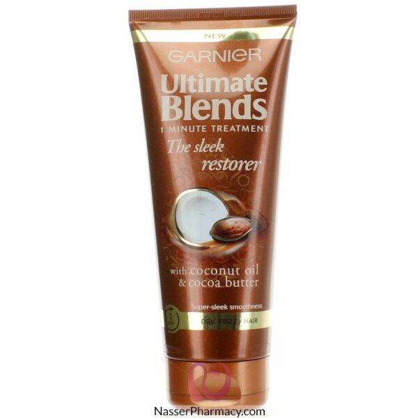 غارنييه Ultimate Blends زيت جوز الهند وزبدة الكاكاو  لعلاج الشعر الجاف والمتجعد 200 مل