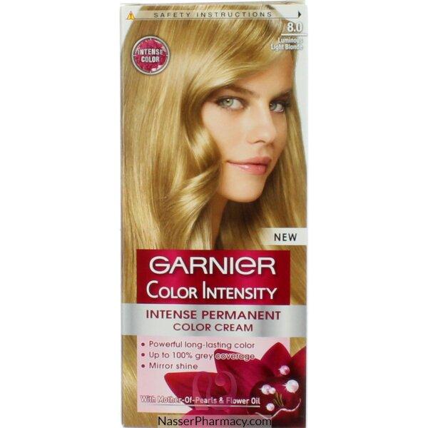 Garnier Color Intensity Cream  Ligh Blonde 8.0