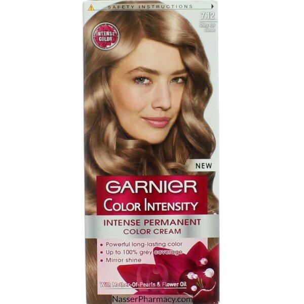 Garnier Color Intensity Cream  Shiny Ash Blond 7.12