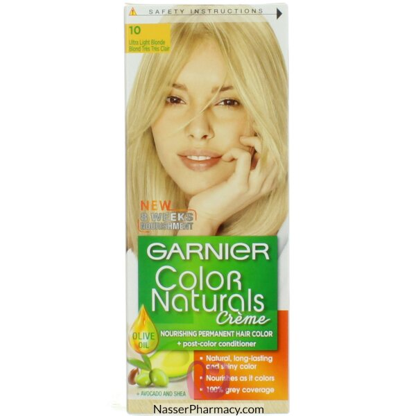 Garnier Color Naturals Cream  10 Ultra Light Blond