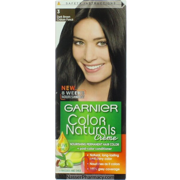 Garnier Color Naturals Cream 3 Dark Brown