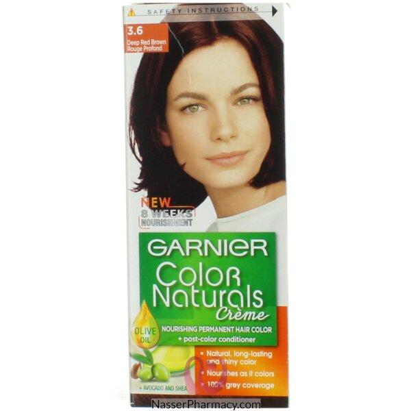 Garnier Color Naturals Cream 3.6 Deep Red Brown