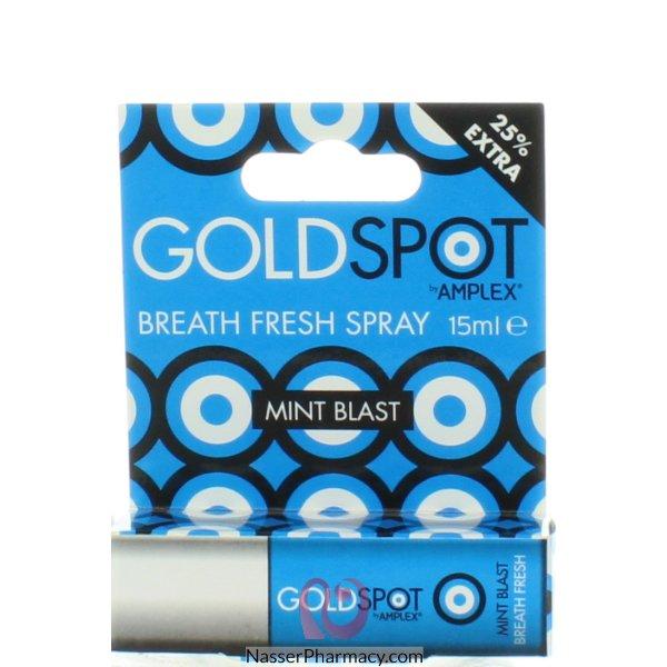 جولد سبوت Gold Spot  سبراي منعش  بالنعناع لرائحة الفم الكريهة  15 مل -1910