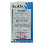 هيلث ايد فوليك أسيد (health Aid Folic Acid) 400ميكروجرام - 90قرص