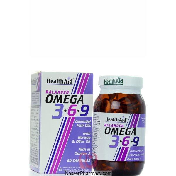 هيلث ايد Health Aid  أوميجا 3-6-9  60 كبسولة