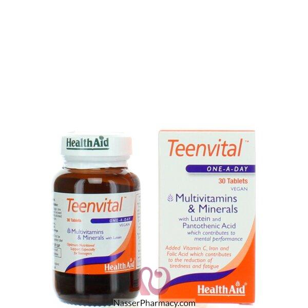 هيلث ايد Health Aid- تينفييتال (عمر 14+) ملتي فيتامين 30 مضغوطة