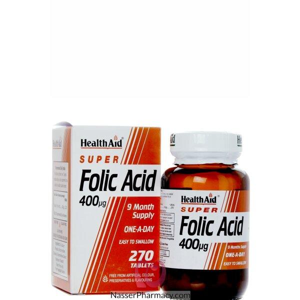 هيلث ايد Health Aid فوليك أسيد 400ميكروجرام - 270قرص