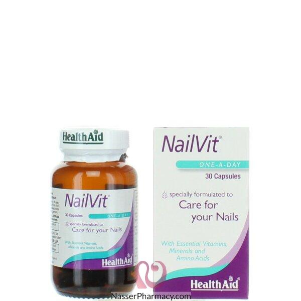 هيلث ايد Health Aid- فيتامينات الأظافر 30 كبسولة