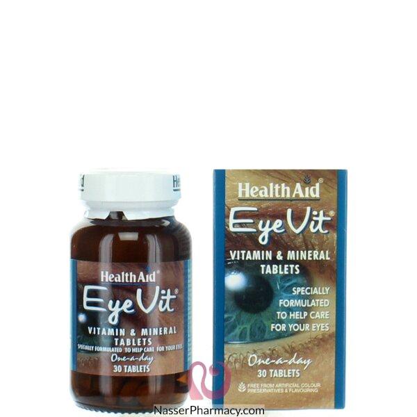 هيلث ايد Health Aid - فيتامينات العيون مديد التأثير 30 مضغوطة