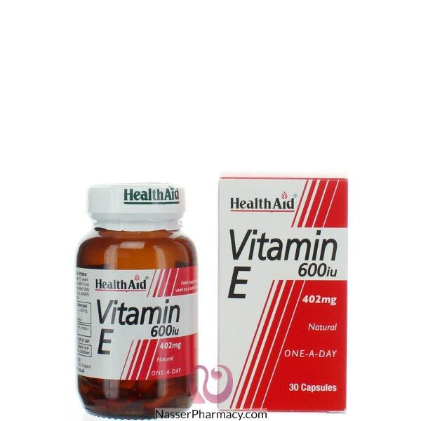 هيلث ايد  Health Aid فيتامين إي 600 وحدة - 30 كبسولة