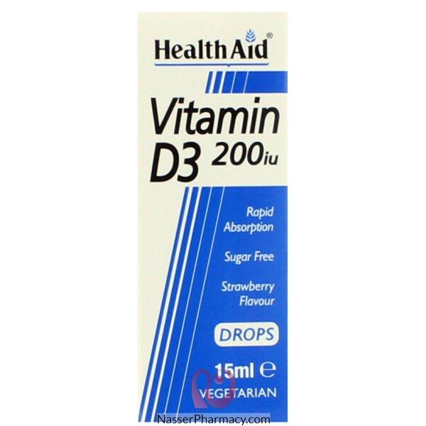 هيلث ايد  Health Aid  فيتامين د3 نقط 200 وحدة - 15مل