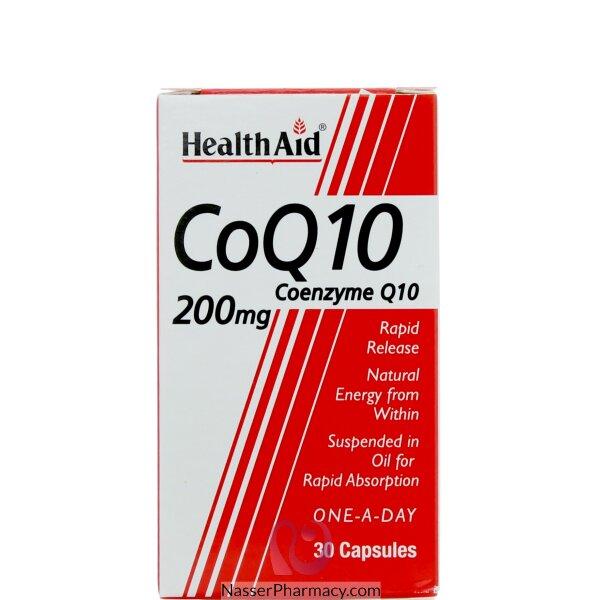 هيلث ايد  Health Aid كو كيو 10 .. 200 مجم - 30كبسولة