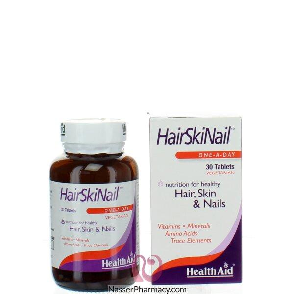 هيلث ايد Health Aid  مكمل غذائي لغذاء الشعر ، البشرة والأظافر - 30 قرص